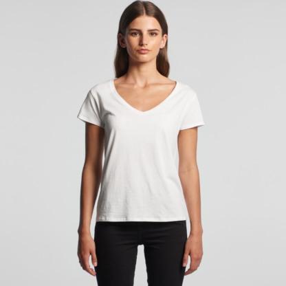 Ladies V neck cotton t-shirt