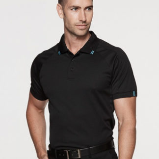 Polyester Polo with stripes on collar