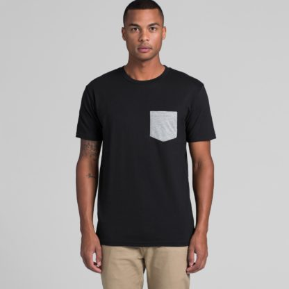 tee with colored pocket