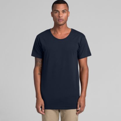 Cotton t-shirt with low neck line