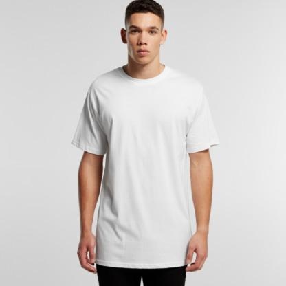 Cotton T-shirt long at bottom