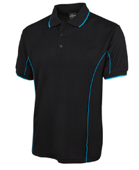 Polyester polo with piping