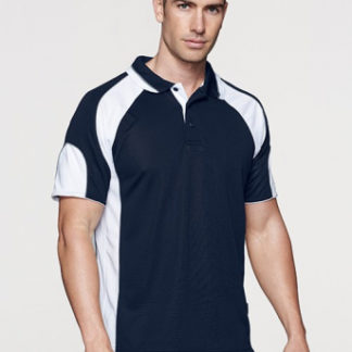 Ployester polo with arm panel colours