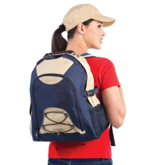 Backpack with elastic strap