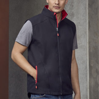 Softshell Vest with bright colour lining