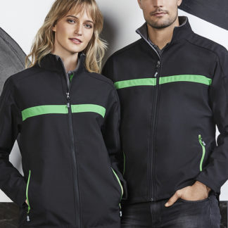 Softshell jacket with horizontal stripe