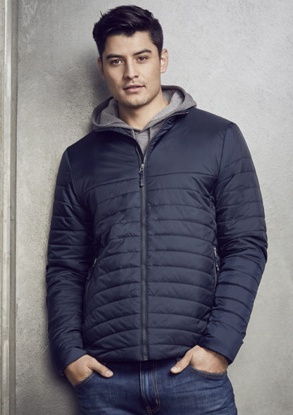 puffy jacket with lines through it