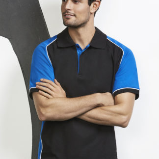 Poly/Cotton polo with colored arm panels
