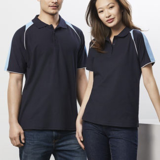 Cotton/Polyester Polo with stripes down side