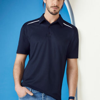 Cotton/Polyester polo with white section on shoulders
