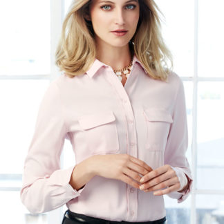 Long sleeve button up ladies shirt