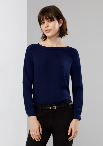 Ladies Blouse with boatneck