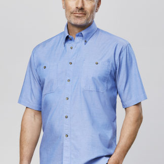 Chambray shirt mens button up