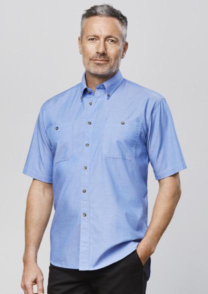 Chambray shirt mens button up
