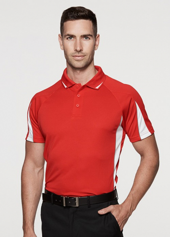 Polyester Polo With triangle colour on the arm