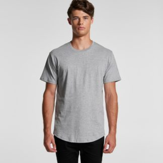 Cotton T-shirt curved hem
