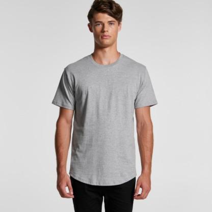 Cotton T-shirt curved hem