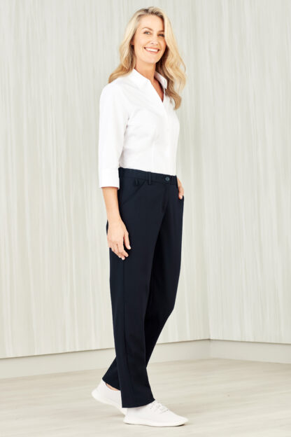 Comfort waist straight leg pant