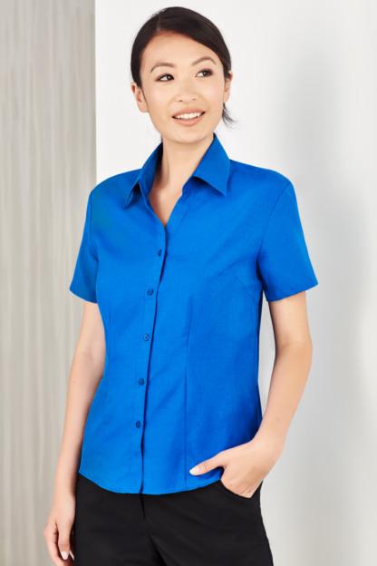 Short sleeve non iron shirt ladies