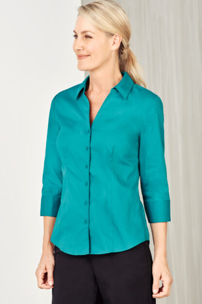 Ladies 3/4 shirt y-neckline