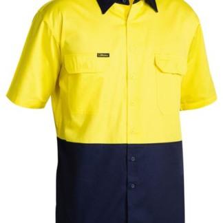 Bisley 2 tone short sleeve shirt