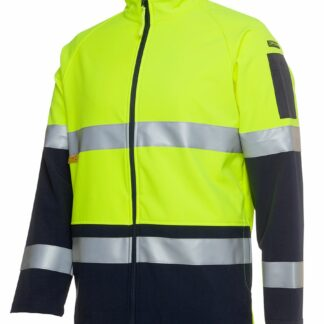 JB's War hi vis softshell jacket with reflective tape