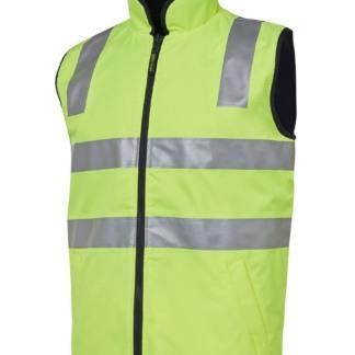 Jb's wear hi vis softshell vest with reflective tape