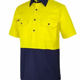 Hi Vis Close Front S/S Shirt