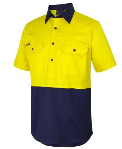 Hi Vis Close Front S/S Shirt