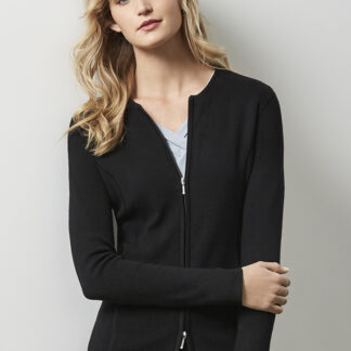 Biz collection Ladies 2-Way Zip Cardigan
