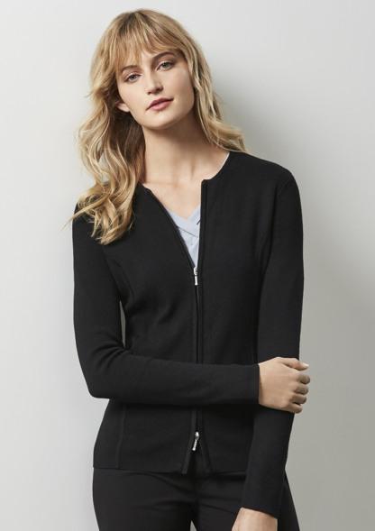 Biz collection Ladies 2-Way Zip Cardigan