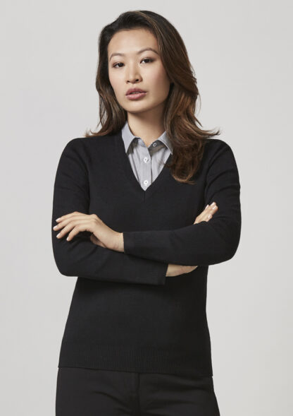 Biz Collection Ladies V Neck Pullover