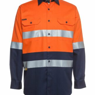 JBs Hi Vis L/S 190G with reflective tape