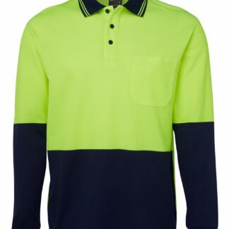 JBs Hi VIs L/S Cotton Back Polo
